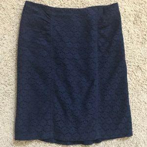 Navy Blue Lace Nanette Lepore Skirt